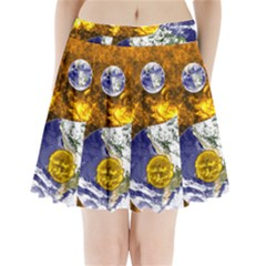 Design Yin Yang Balance Sun Earth Pleated Mini Skirt by Nexatart