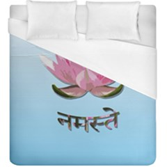 Namaste   Lotus Duvet Cover (king Size) by Valentinaart
