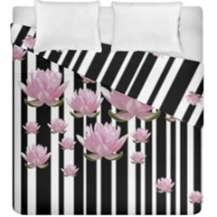 Namaste   Lotus Duvet Cover Double Side (king Size) by Valentinaart