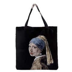 The Girl With The Pearl Earring Grocery Tote Bag by Valentinaart