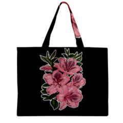Orchid Zipper Mini Tote Bag by Valentinaart