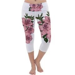 Orchid Capri Yoga Leggings by Valentinaart