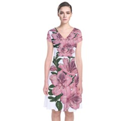 Orchid Short Sleeve Front Wrap Dress by Valentinaart
