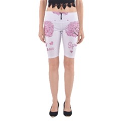 Spring Blossom  Yoga Cropped Leggings by Valentinaart