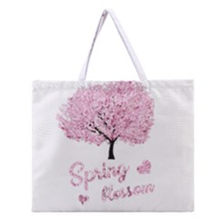 Spring Blossom  Zipper Large Tote Bag by Valentinaart