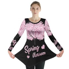 Spring Blossom  Long Sleeve Tunic  by Valentinaart