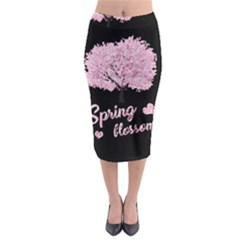 Spring Blossom  Midi Pencil Skirt by Valentinaart