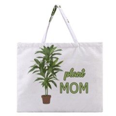 Plant Mom Zipper Large Tote Bag by Valentinaart