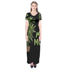 Plant Mom Short Sleeve Maxi Dress by Valentinaart