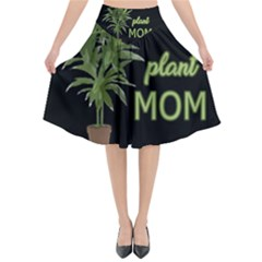 Plant Mom Flared Midi Skirt by Valentinaart