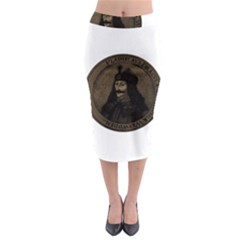Count Vlad Dracula Midi Pencil Skirt by Valentinaart