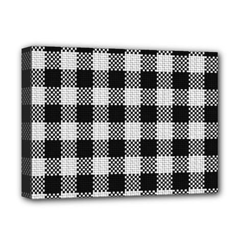 Plaid Pattern Deluxe Canvas 16  X 12   by ValentinaDesign