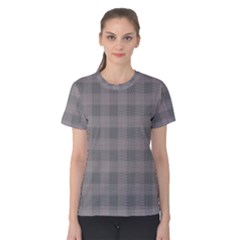 Plaid Pattern Women s Cotton Tee by ValentinaDesign