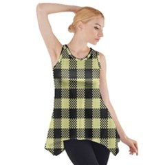 Plaid Pattern Side Drop Tank Tunic by ValentinaDesign