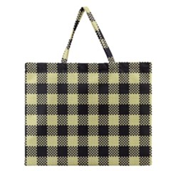 Plaid Pattern Zipper Large Tote Bag by ValentinaDesign