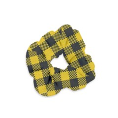 Plaid Pattern Velvet Scrunchie by ValentinaDesign
