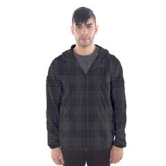 Plaid Pattern Hooded Wind Breaker (men) by ValentinaDesign