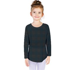 Plaid Pattern Kids  Long Sleeve Tee by ValentinaDesign