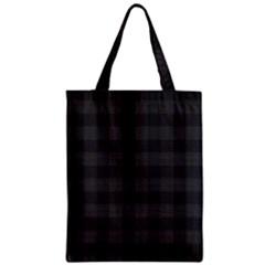 Plaid Pattern Zipper Classic Tote Bag by ValentinaDesign