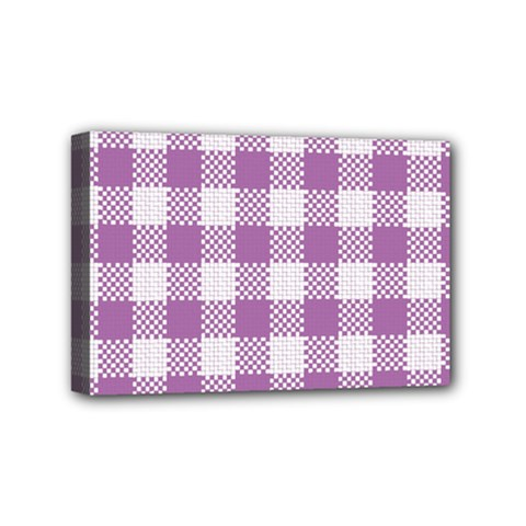 Plaid Pattern Mini Canvas 6  X 4  by ValentinaDesign