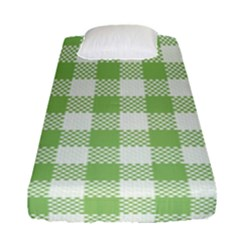 Plaid Pattern Fitted Sheet (single Size) by ValentinaDesign