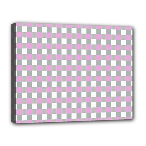 Plaid Pattern Canvas 14  X 11  by ValentinaDesign