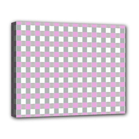 Plaid Pattern Deluxe Canvas 20  X 16   by ValentinaDesign
