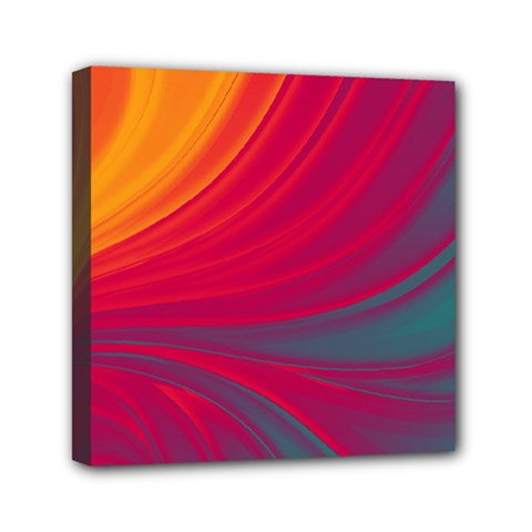 Colors Mini Canvas 6  X 6  by ValentinaDesign