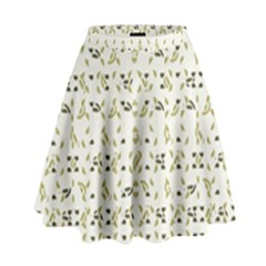 Abstract Shapes Pattern High Waist Skirt by dflcprintsclothing