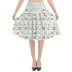 Abstract Shapes Pattern Flared Midi Skirt by dflcprintsclothing