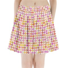 Multicolored Floral Pattern Pleated Mini Skirt by linceazul
