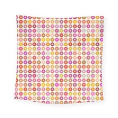Multicolored Floral Pattern Square Tapestry (small) by linceazul