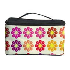Multicolored Floral Pattern Cosmetic Storage Case by linceazul