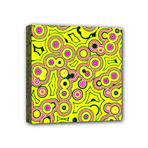 Bubble Fun 17d Mini Canvas 4  X 4  by MoreColorsinLife