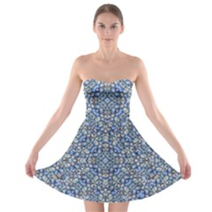Geometric Luxury Ornate Strapless Bra Top Dress by dflcprintsclothing