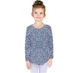 Geometric Luxury Ornate Kids  Long Sleeve Tee