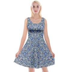 Geometric Luxury Ornate Reversible Velvet Sleeveless Dress by dflcprintsclothing