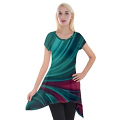 Colors Short Sleeve Side Drop Tunic by ValentinaDesign