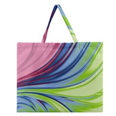 Colors Zipper Large Tote Bag by ValentinaDesign