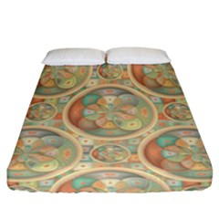 Complex Geometric Pattern Fitted Sheet (california King Size) by linceazul