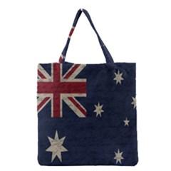 Vintage Australian Flag Grocery Tote Bag by ValentinaDesign