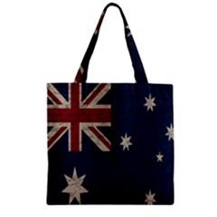 Vintage Australian Flag Zipper Grocery Tote Bag by ValentinaDesign