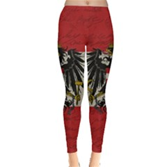 Vintage Flag   Austria Leggings  by ValentinaDesign