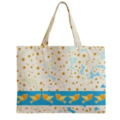 Birds And Daisies Zipper Mini Tote Bag by linceazul
