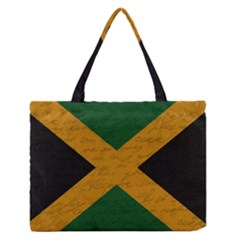 Vintage Flag   Jamaica Medium Zipper Tote Bag by ValentinaDesign