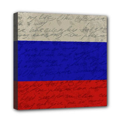 Vintage Flag   Russia Mini Canvas 8  X 8  by ValentinaDesign