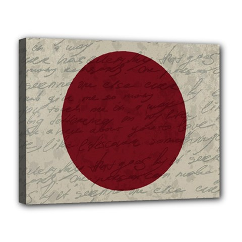 Vintage Flag   Japan Canvas 14  X 11  by ValentinaDesign