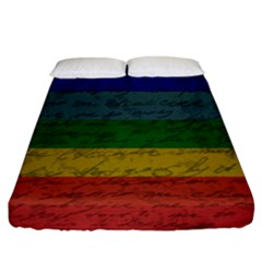 Vintage Flag   Pride Fitted Sheet (california King Size) by ValentinaDesign
