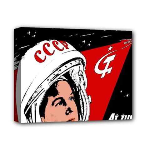 Valentina Tereshkova Deluxe Canvas 14  X 11  by Valentinaart