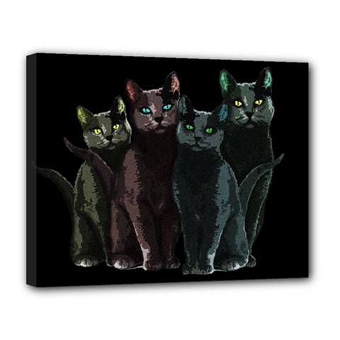 Cats Canvas 14  X 11  by Valentinaart